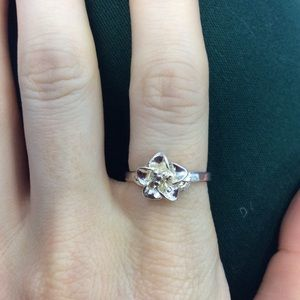 925 Real Silver Hawaii Plumeria Ring