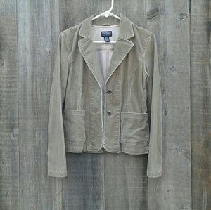 Carmel Brown Corduroy Blazer Jacket