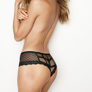 Victoria's Secret Dot Caged Cheeky