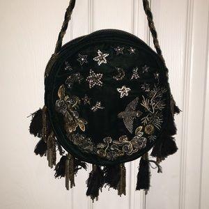 Zara velvet crossbody with embellishments