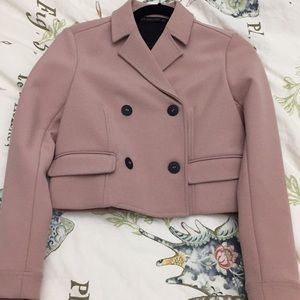 Zara dusty pink cropped jacket