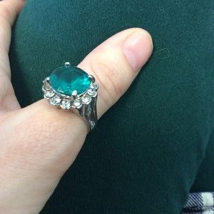Francesca's Collections Jewelry - Big Green Rhinestone Cocktail Ring