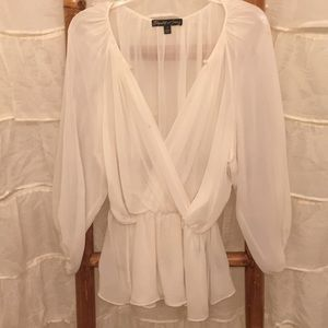 ELIZABETH and JAMES Silk Blouse SZ Small