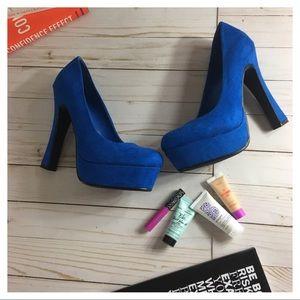 """NWOT Shoe Dazzle """"Fallyn"""" Heels - Blue"""