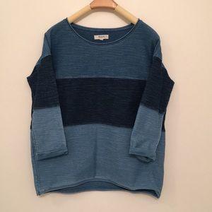 Madewell denim knit dropped shoulder top