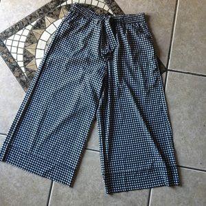 Zara trafaluc plaid pants with belt wide leg