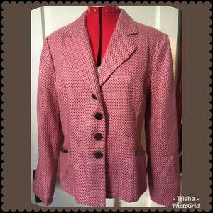 NWT Emma James/Liz Claiborne pink & brown tweed