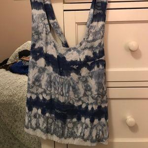 Blue tie dye tank size S
