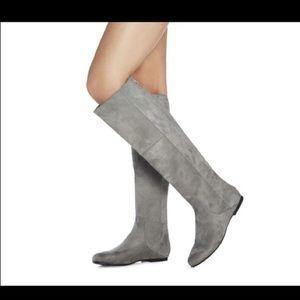 Super comfy gray knee high boot