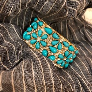 Gold Turquoise Gold Cuff Bracelet