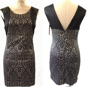 New Esley Mini Dress Black Jacquard Floral Print