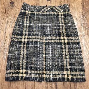 Ann Taylor Plaid Knee Length Skirt