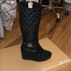 Black wedge boots - Michael Kors