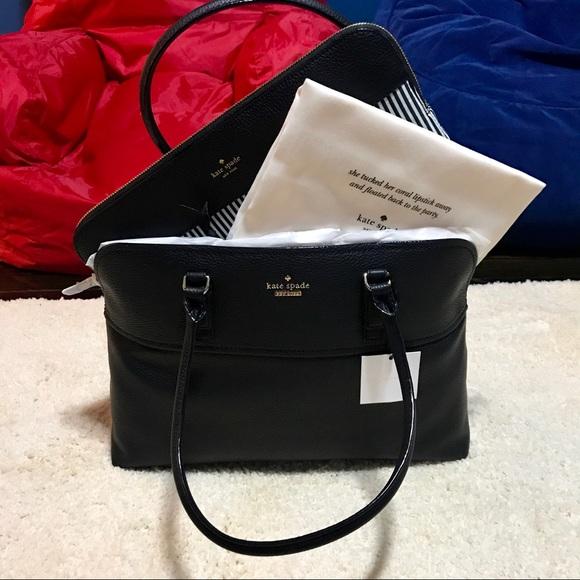 kate spade Handbags - Kate Spade Leather Bag, Laptop Case, Dust bag! ♠️