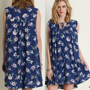 Dress Size S M L Blue Sleeveless Sun Beach Tunic