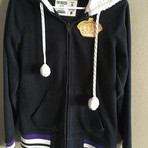 Jackets & Blazers - L.A. Kings HOCKEY black coat w hood Pom Pom jacket