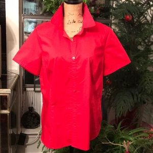 Cute short sleeve red top