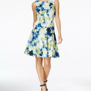 Tommy Hilfiger Sleeveless Floral-Print Fit+Flair