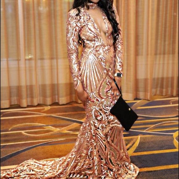 Dresses | Rose Gold Prom Dress | Poshmark
