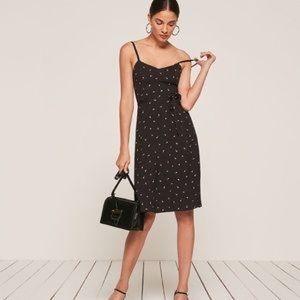 Reformation Bessie Dress Floral Black size 4