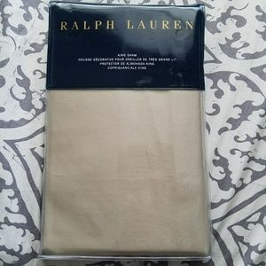 Ralph Lauren King sham sateen 800 TC