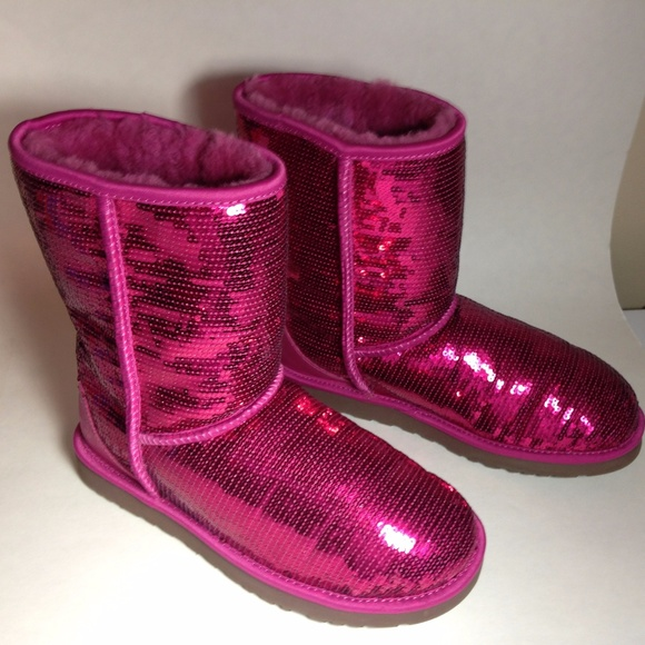 pink sparkle uggs