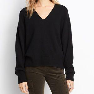 Vince Black Cashmere V Neck Sweater