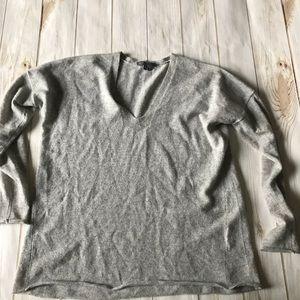 Vince Oversized V Neck Cashmere Sweater