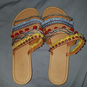 Colorful Slip-on Sandals