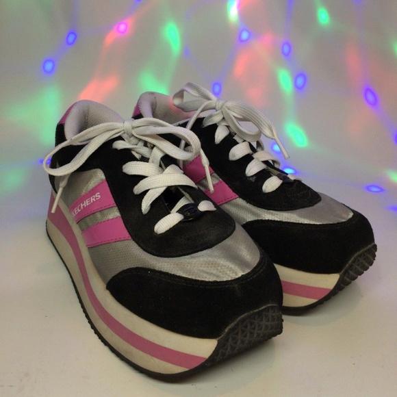 1f9131f93e5 Vintage 90s Skechers Platform Sneakers. M 5a2a22633c6f9ffe09018cae