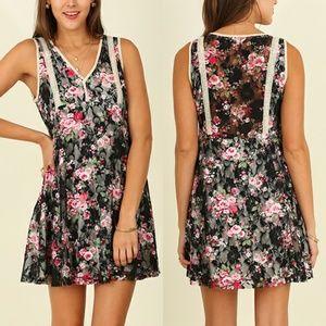 Dress Size S M L Black Lace Tunic Sleeveless