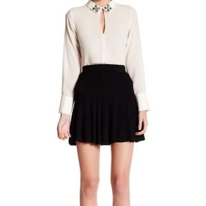 JOIE Meade Ribbed Sweater Mini Skirt w/ cashmere