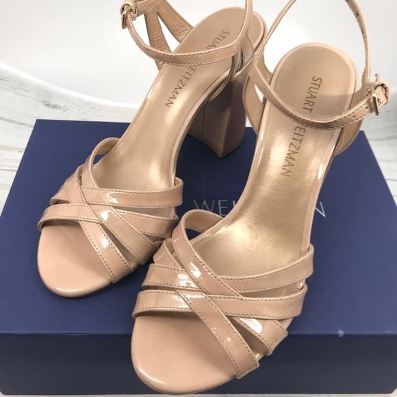 Stuart Weitzman Nudist block heeled sandals idVsRiRTQ