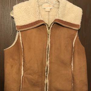 Faux Suede Shearling Michael Kors Vest