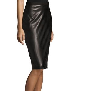 Bcbg NWT  pencil skirt faux leather size s