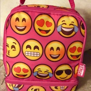 Other - Hot Pink Emoji lunch box insulated Kid's gift
