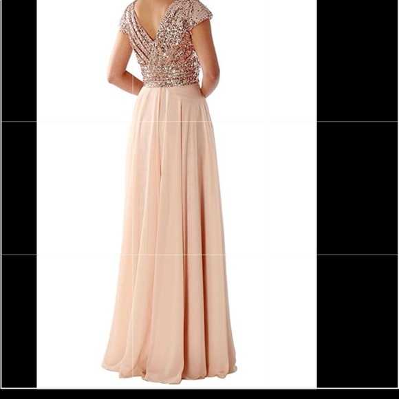 78309b988a Rose gold prom dress size 12