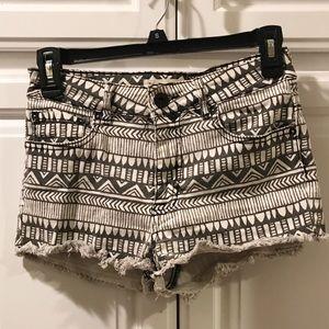 Pacsun bullhead // tribal high waisted shorts