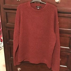 Jcrew red lambs wool Sweater