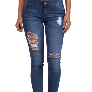 Denim distressed jeans - size 7