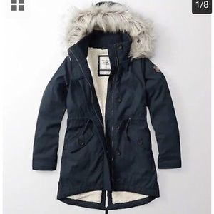 Abercrombie and Fitch Sherpa Parka Jacket Coat