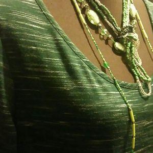 Mossimo green maxi dress sz XL