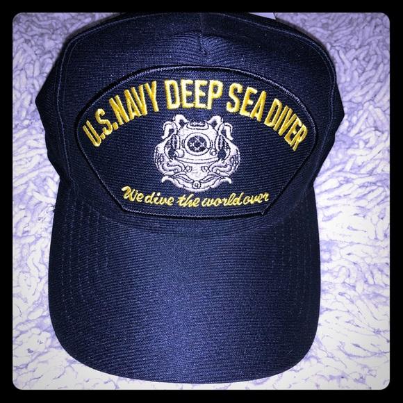 US NAVY DEEP SEA DIVERS CAP 29dfe28f7f6