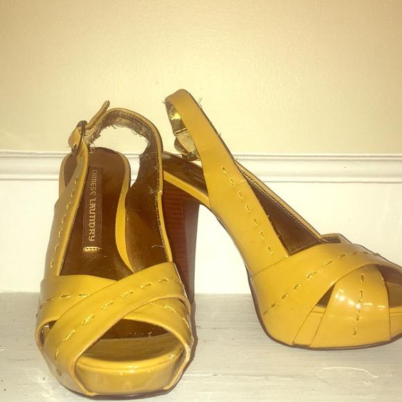 Chinese Laundry Shoes | Mustard Yellow