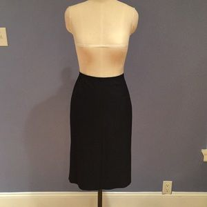 Zara Black Knee Length Business Skirt Size 8