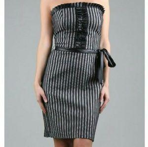EVA FRANCO designer New Years tux tube dress