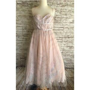 Kimchi Blue Glitz Midi Dress Size 10 Glitter