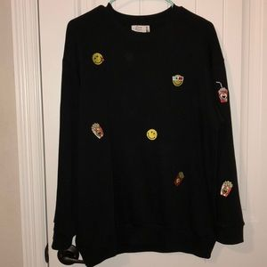Zara Smiley World Emoji Sweatshirt