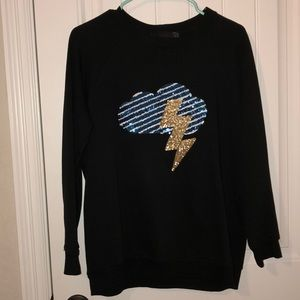 Zara Lightning Sequin Sweatshirt