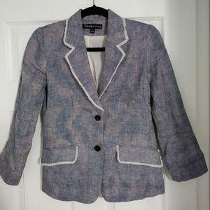 Elizabeth and James 100% Linen Jacket Blazer